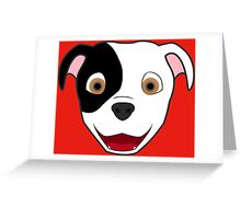 Spotted Pitbull Face Greeting Card