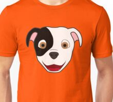 Spotted Pitbull Face Unisex T-Shirt