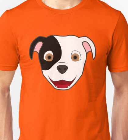 Spotted Pitbull Face Unisex T-Shirt