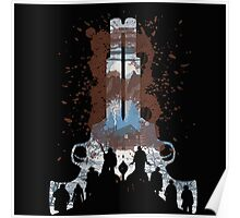 The Hateful Eight 2 guns logo  Poster