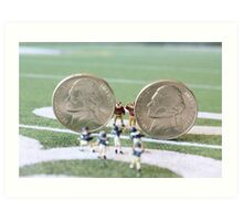 I know the coach said, 'nickel defense' but I'm pretty sure this isn't what he meant!! Art Print