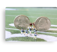 I know the coach said, 'nickel defense' but I'm pretty sure this isn't what he meant!! Metal Print