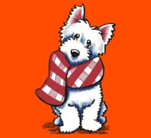 Westie Happy Red Plaid Scarf Kids Clothes