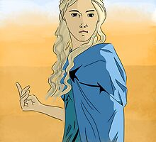 daenerys targaryen, the mother of dragons by sertansaral