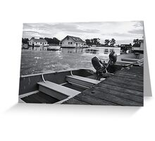 An Evening at the Lake Greeting Card