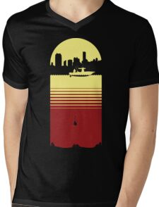 Slice of Life (Yellow/Red) Mens V-Neck T-Shirt
