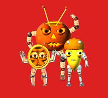 Valxart AutumnBots- PumpkinBot, AcornBot, and WalnutBot Womens Fitted T-Shirt