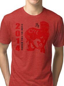 Year of The Horse 2014 Tri-blend T-Shirt