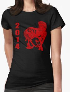 Year of The Horse 2014 Womens Fitted T-Shirt