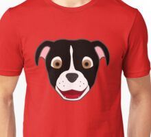 Black Pitbull Face with Blaze Unisex T-Shirt