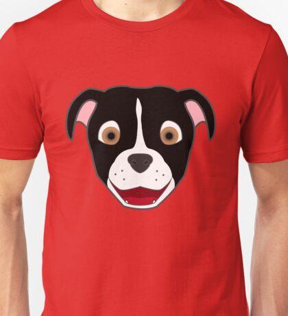 Black Pitbull Face with Blaze Unisex T-Shirt