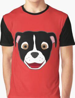 Black Pitbull Face with Blaze Graphic T-Shirt