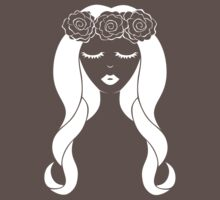 Flower Crown for Dark Colors by benchwench