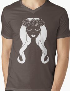 Flower Crown for Dark Colors Mens V-Neck T-Shirt
