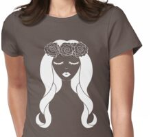 Flower Crown for Dark Colors Womens Fitted T-Shirt