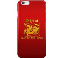 Chinese New Year of The Horse 2014 iPhone Case/Skin
