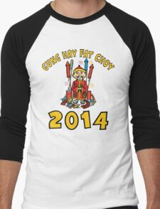 Happy Chinese New Year 2014 Men's Baseball ¾ T-Shirt