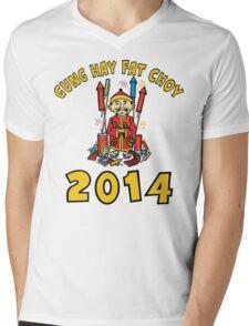 Happy Chinese New Year 2014 Mens V-Neck T-Shirt