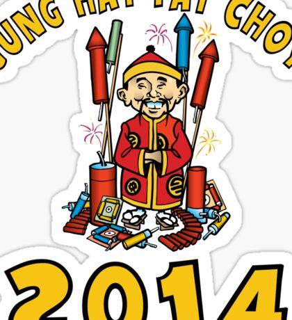Happy Chinese New Year 2014 Sticker