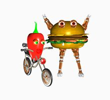 BurgerBot and PepperBot fudebots by Valxart.com  Unisex T-Shirt