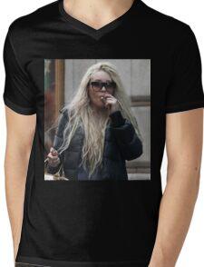 Amanda Bynes Blazin Shit Mens V-Neck T-Shirt