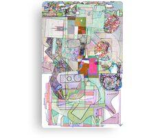 Sojie Ariel Map. Canvas Print