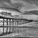 Lone Pier by Ree  Reid