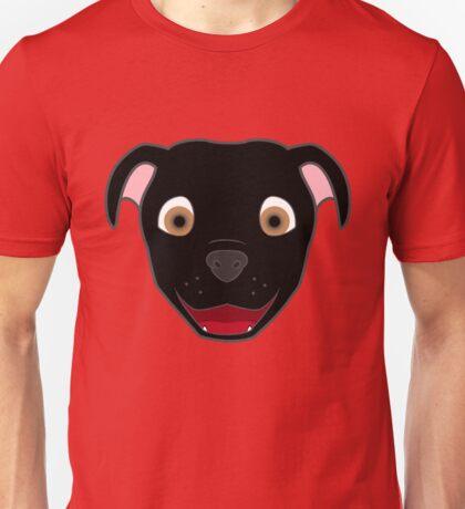 Black Pitbull Face Unisex T-Shirt