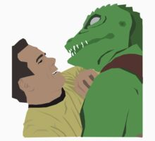 Kirk vs. the Gorn by bioticbutt