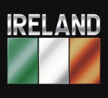 Ireland - Irish Flag & Text - Metallic by graphix