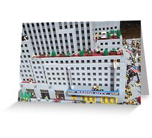 Lego Radio City Music Hall, Lego Rockefeller Center Store, New York City Greeting Card