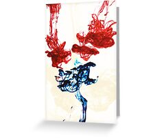 Ink in water Greeting Card