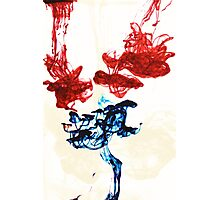 Ink in water Photographic Print