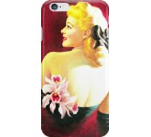 Vintage Lady with Orchids iPhone Case/Skin