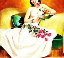 Brunette vintage lady by GardenOfEngland