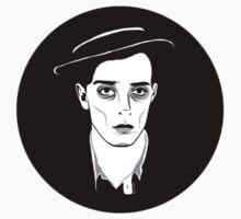 Buster Keaton-Round Sticker by ChickNugs