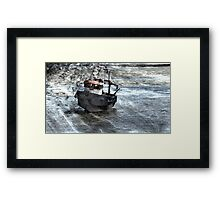 Beached Boat Framed Print