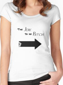 The Jerk to my Bitch (Light Colors) Women's Fitted Scoop T-Shirt