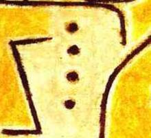 Paul Klee - Red Waistcoat Sticker
