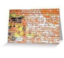 Brick Wall 2 Greeting Card