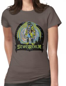 SewerRealm -Blue Womens Fitted T-Shirt