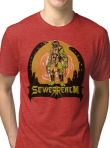 SewerRealm -Orange Tri-blend T-Shirt