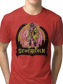 SewerRealm -Purple Tri-blend T-Shirt