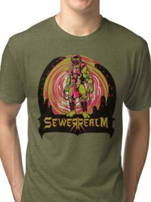 SewerRealm -Red Tri-blend T-Shirt