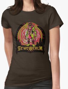 SewerRealm -Red Womens Fitted T-Shirt