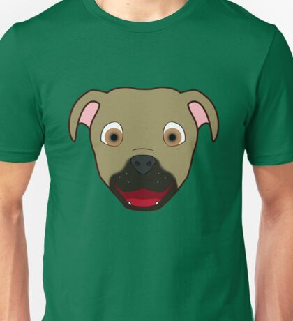 Buckskin Pitbull Face Unisex T-Shirt