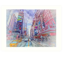 Time Square New York Art Print
