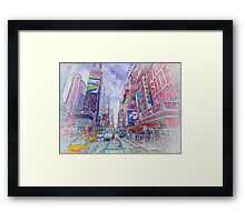 Time Square New York Framed Print