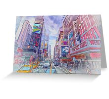 Time Square New York Greeting Card