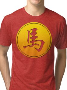 Chinese Zodiac Horse Symbol Tri-blend T-Shirt